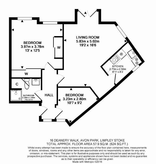 16 Deanery Walk Floorplan