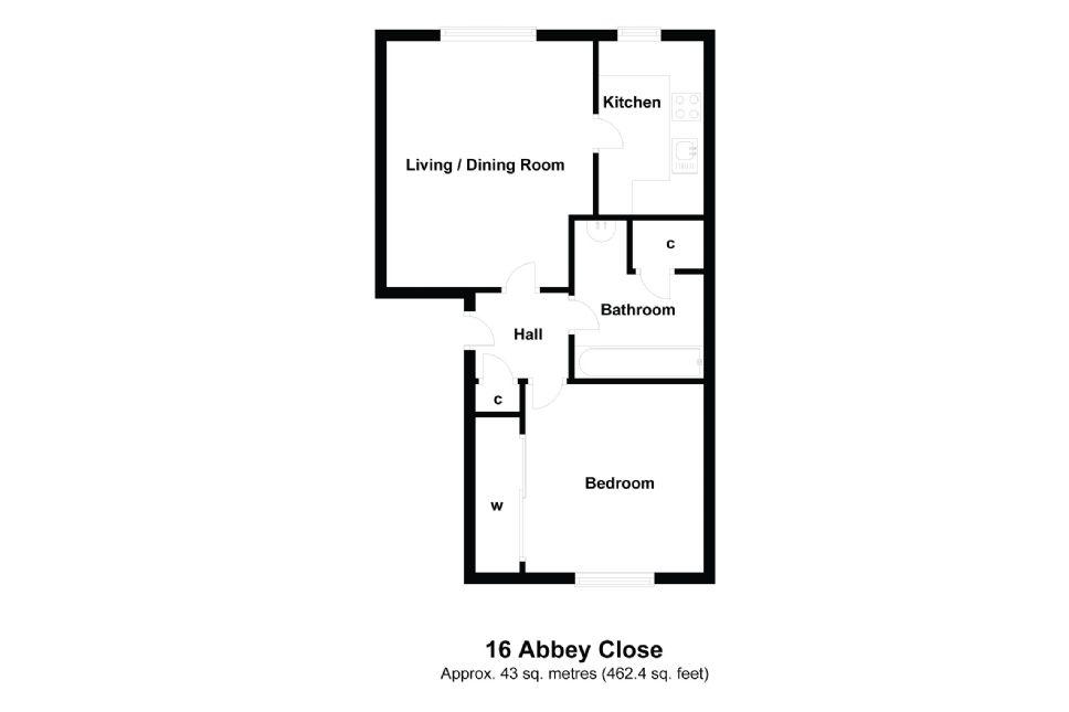 16 Abbey Close Floorplan