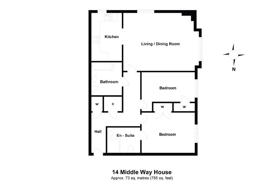 14 Middleway House Floorplan