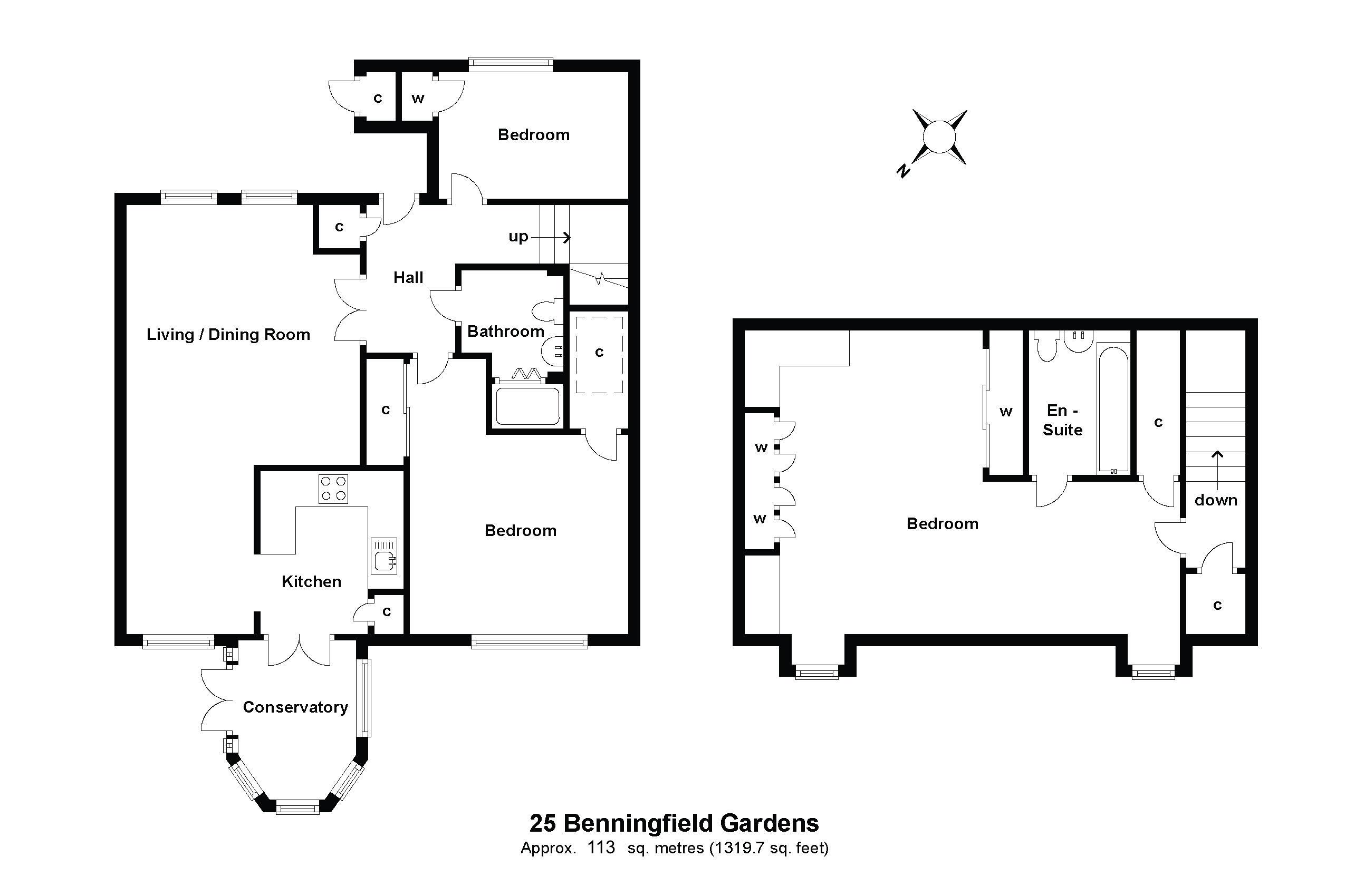25 Benningfield Gardens Floorplan
