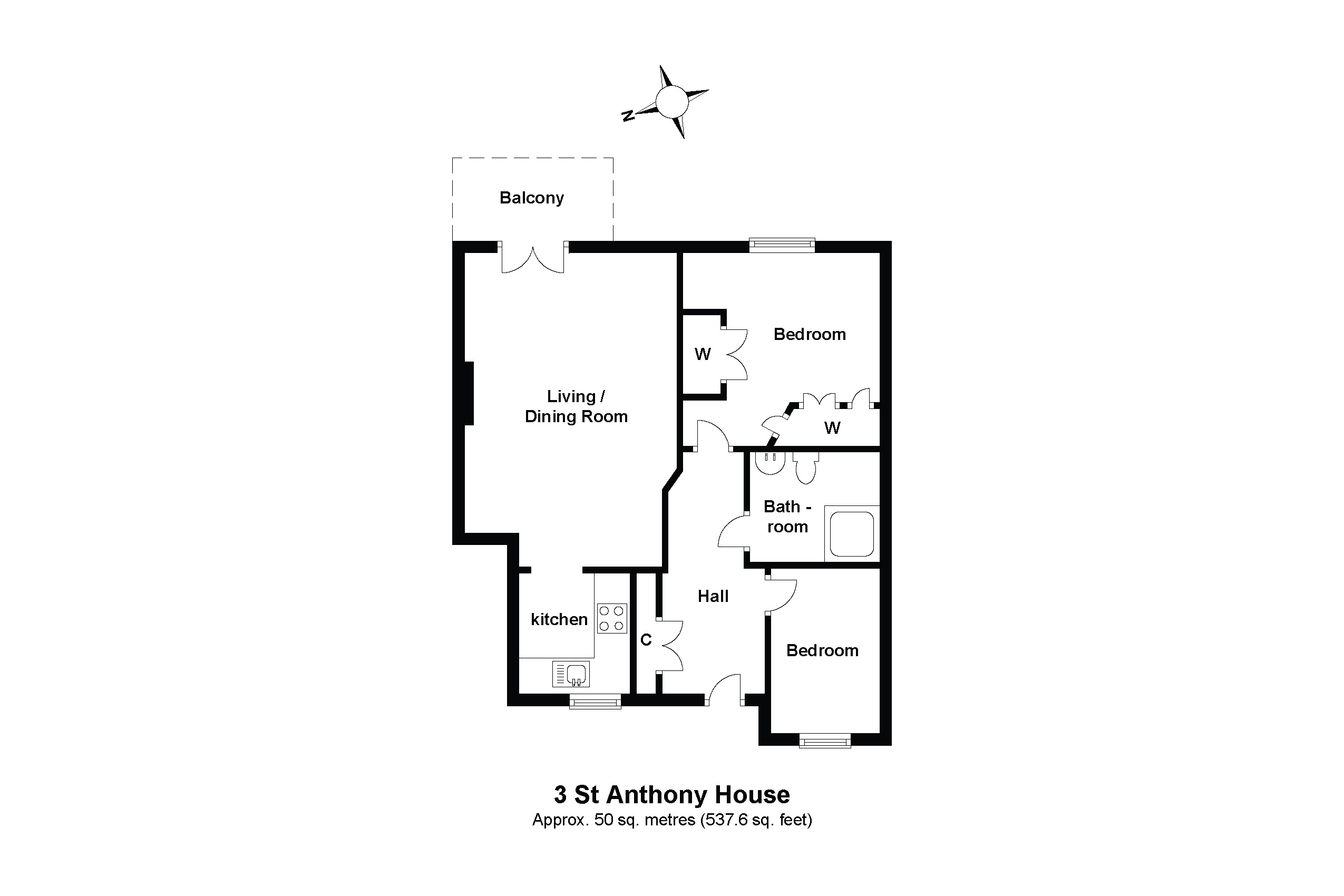 3 St Anthony House Floorplan