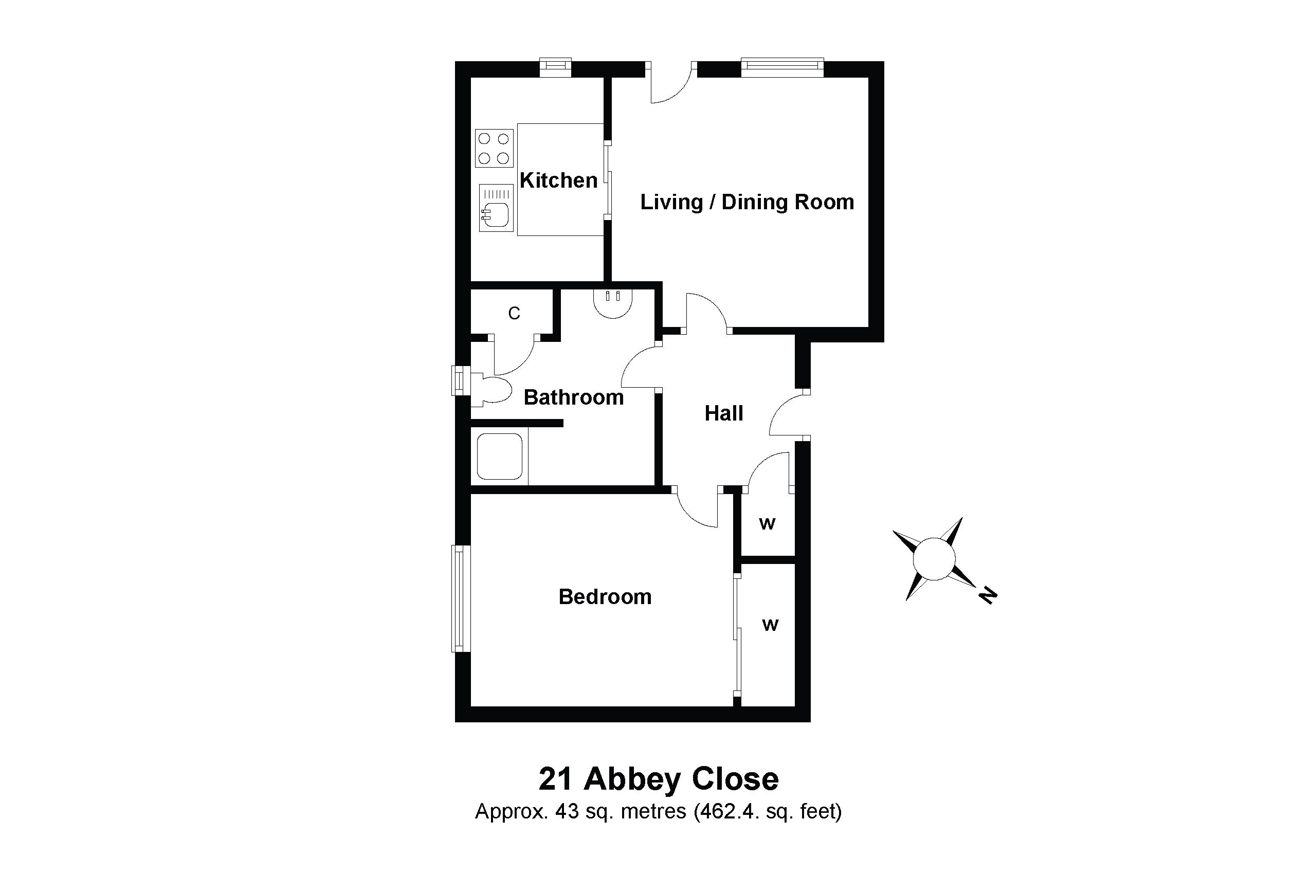 21 Abbey Close Floorplan
