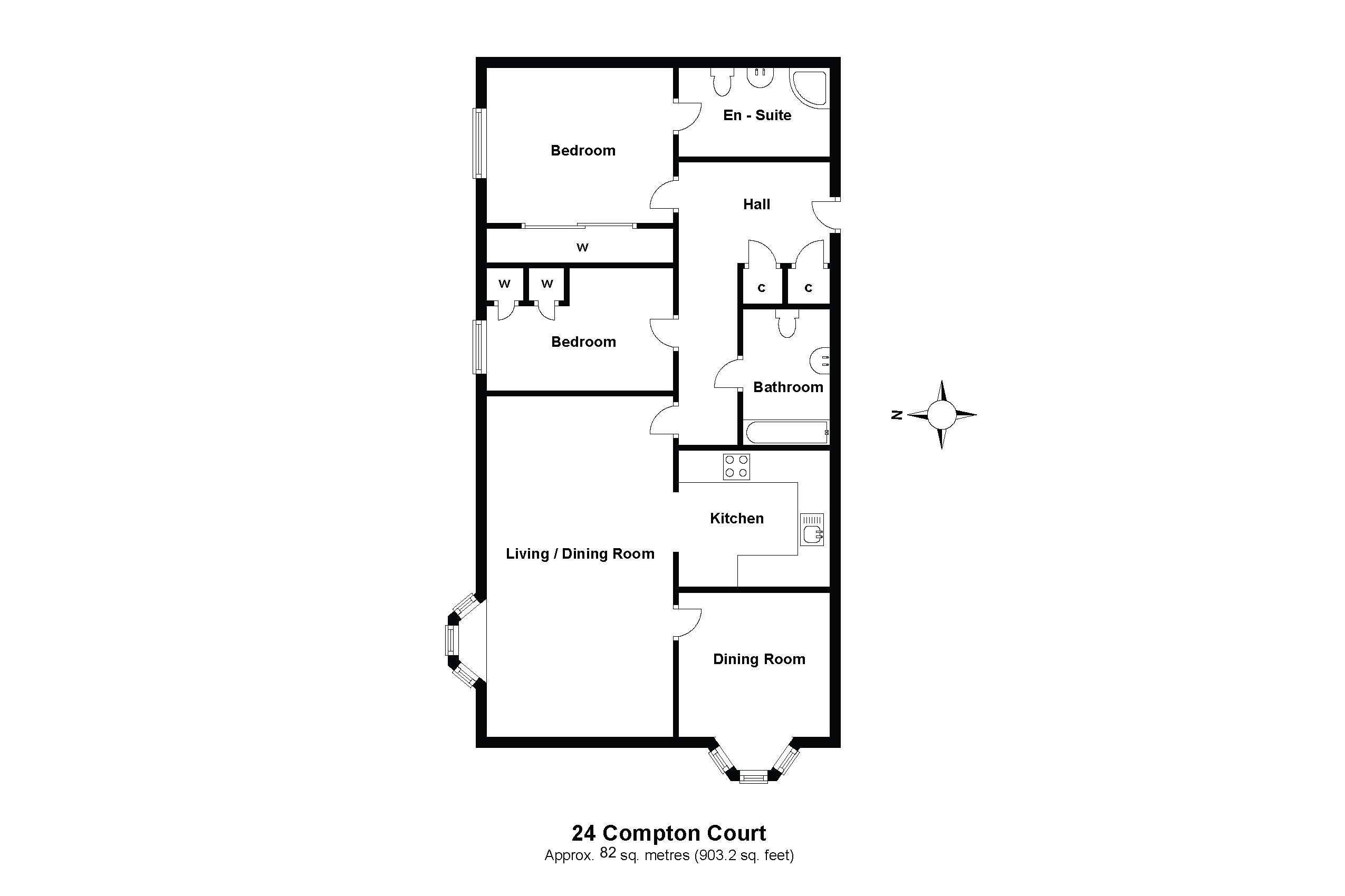 24 Compton Court Floorplan