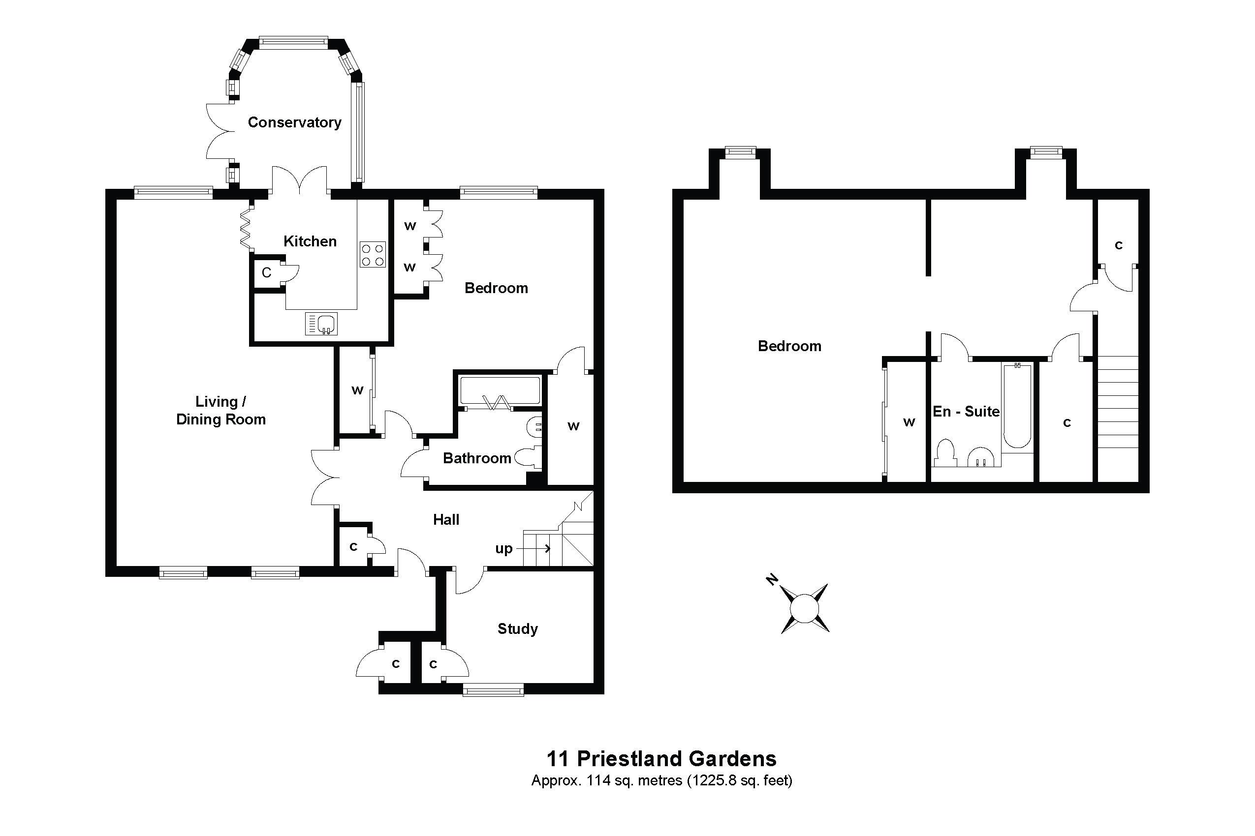 11 Priestland Gardens Floorplan