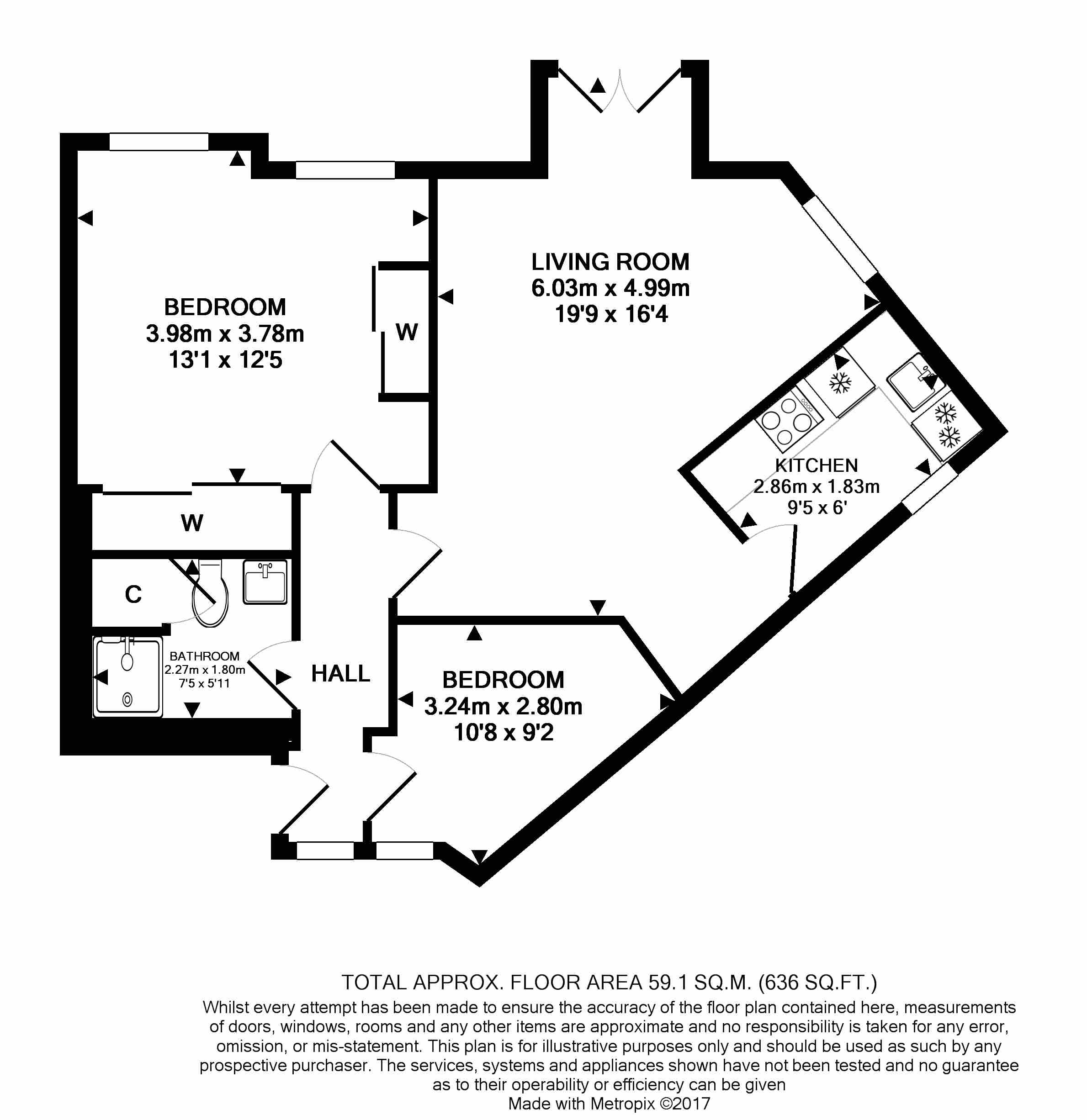16 Deanery Walk Floorplan