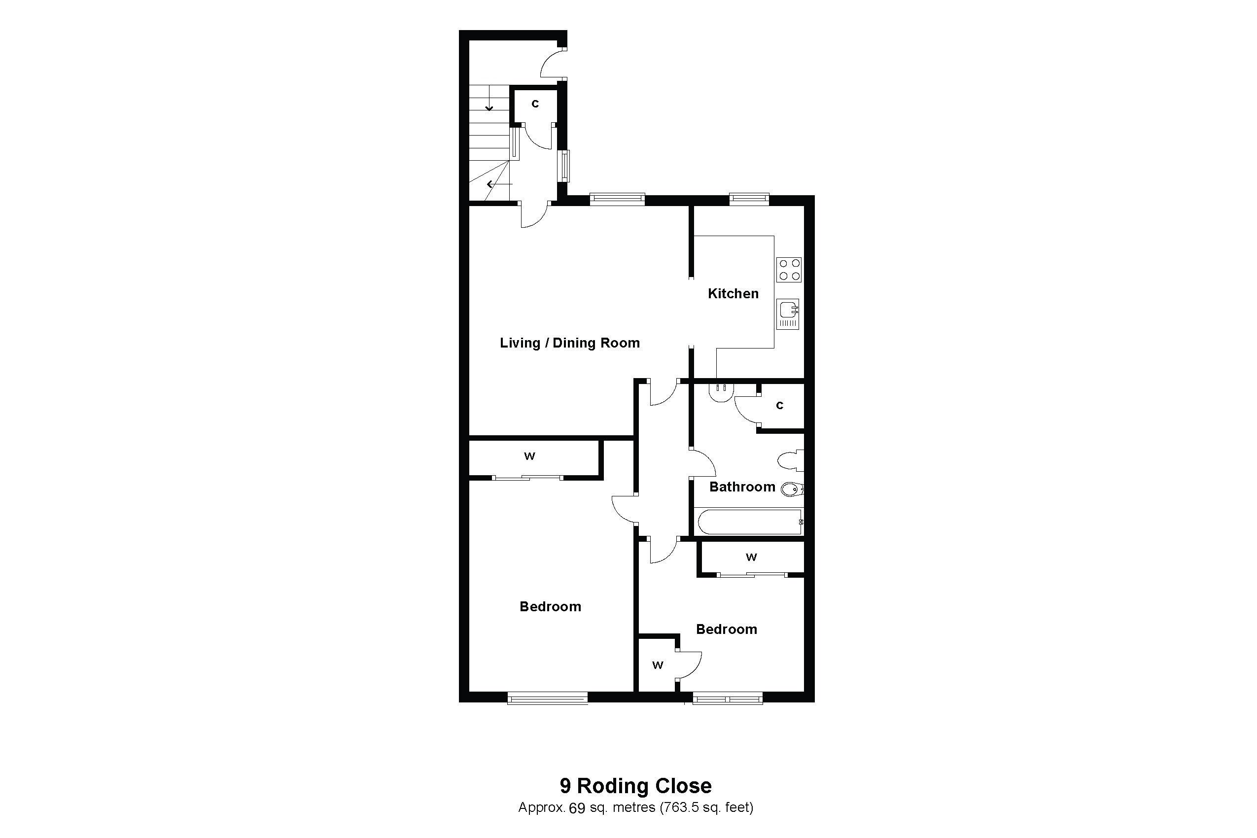 9 Roding Close Floorplan