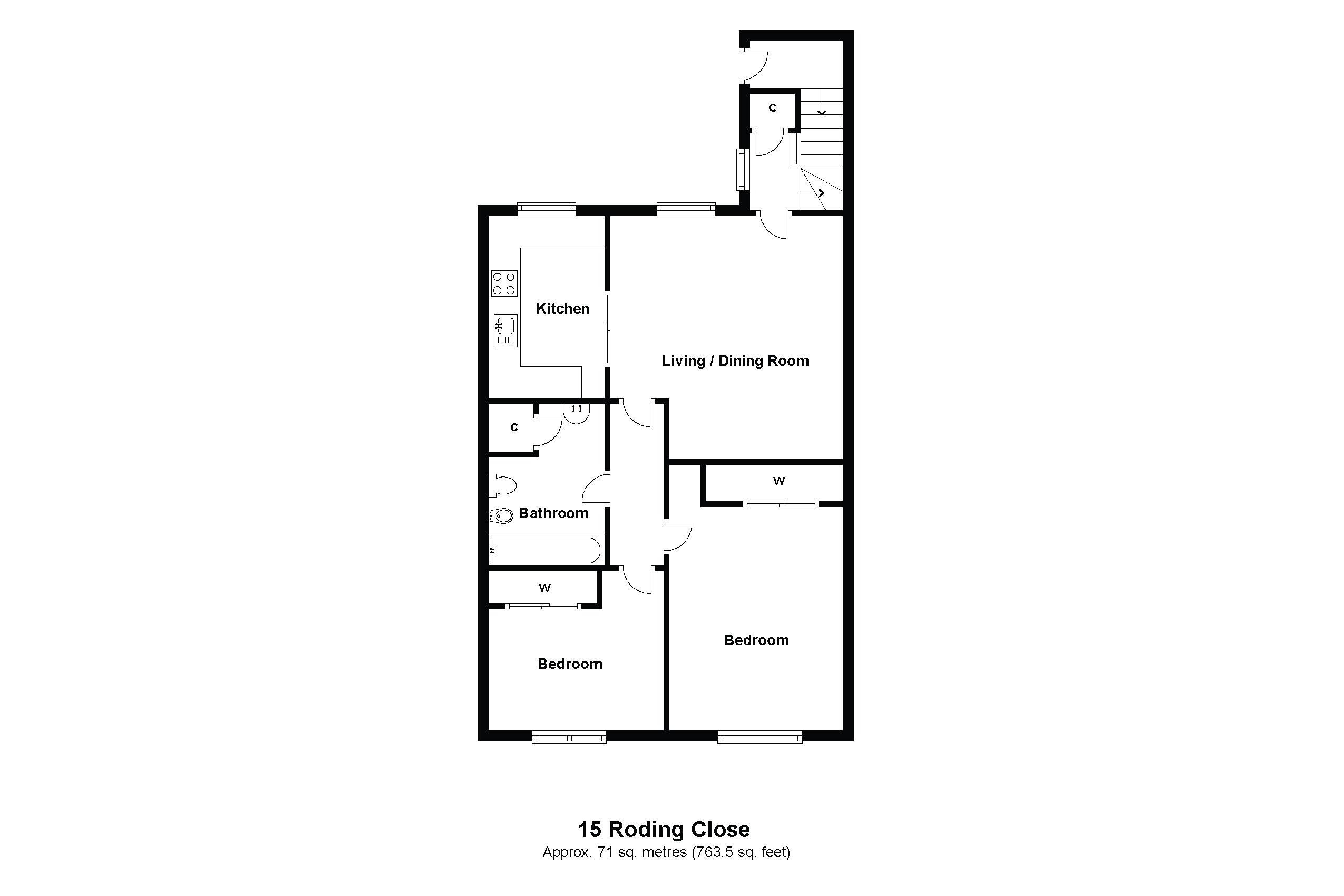 15 Roding Close Floorplan
