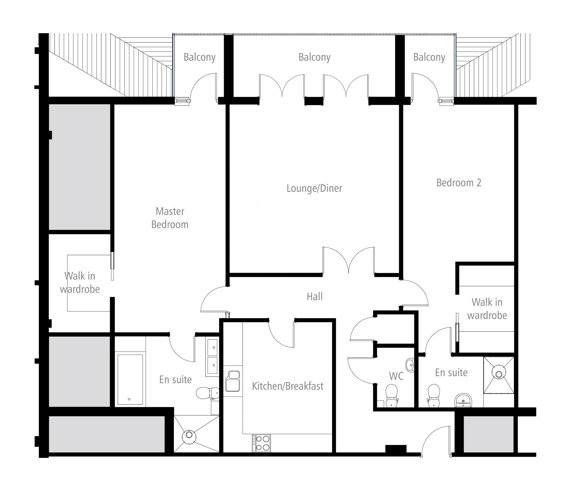 Elmbridge Suite. Apartment 19 Floorplan