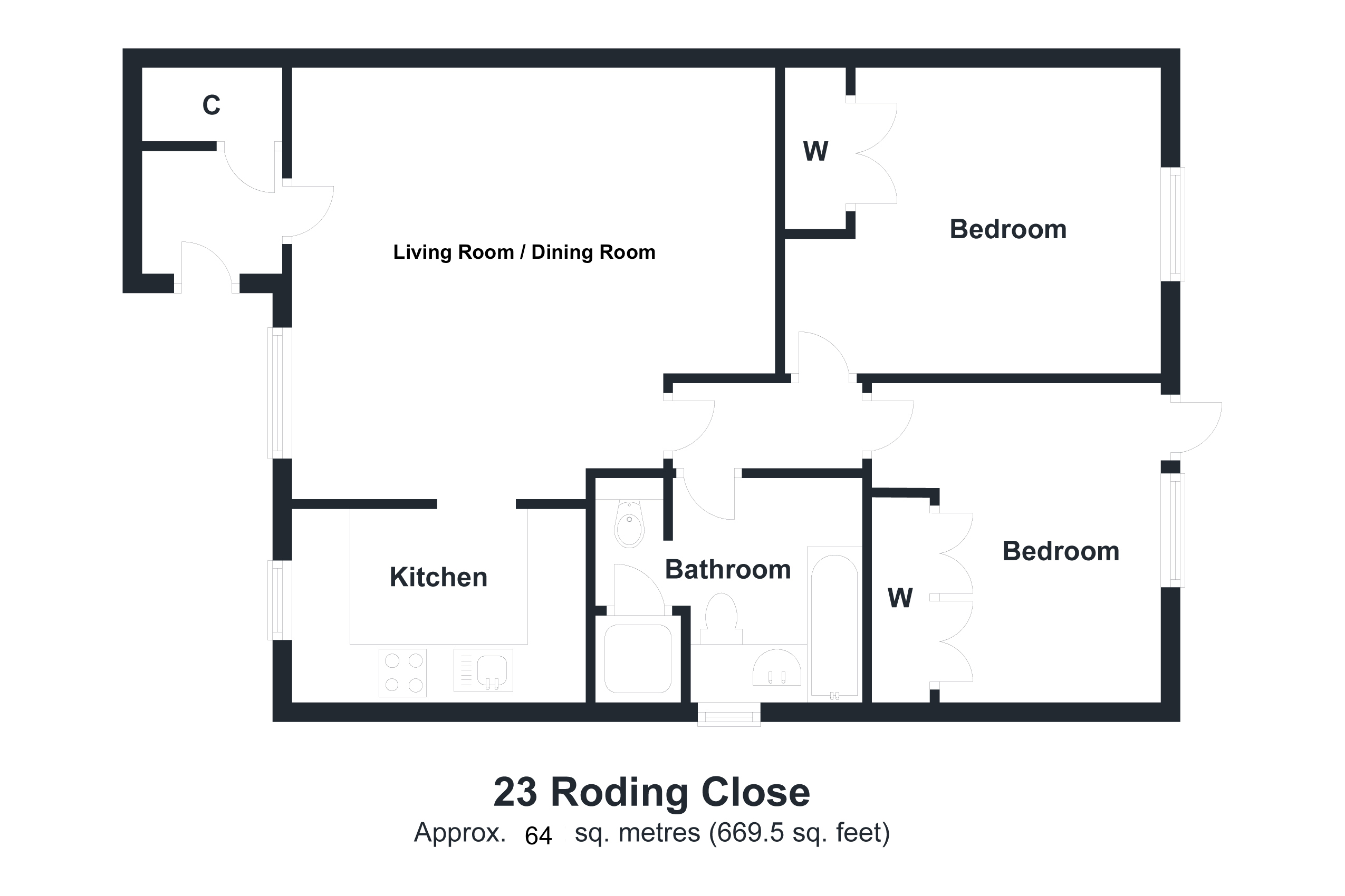 23 Roding Close Floorplan
