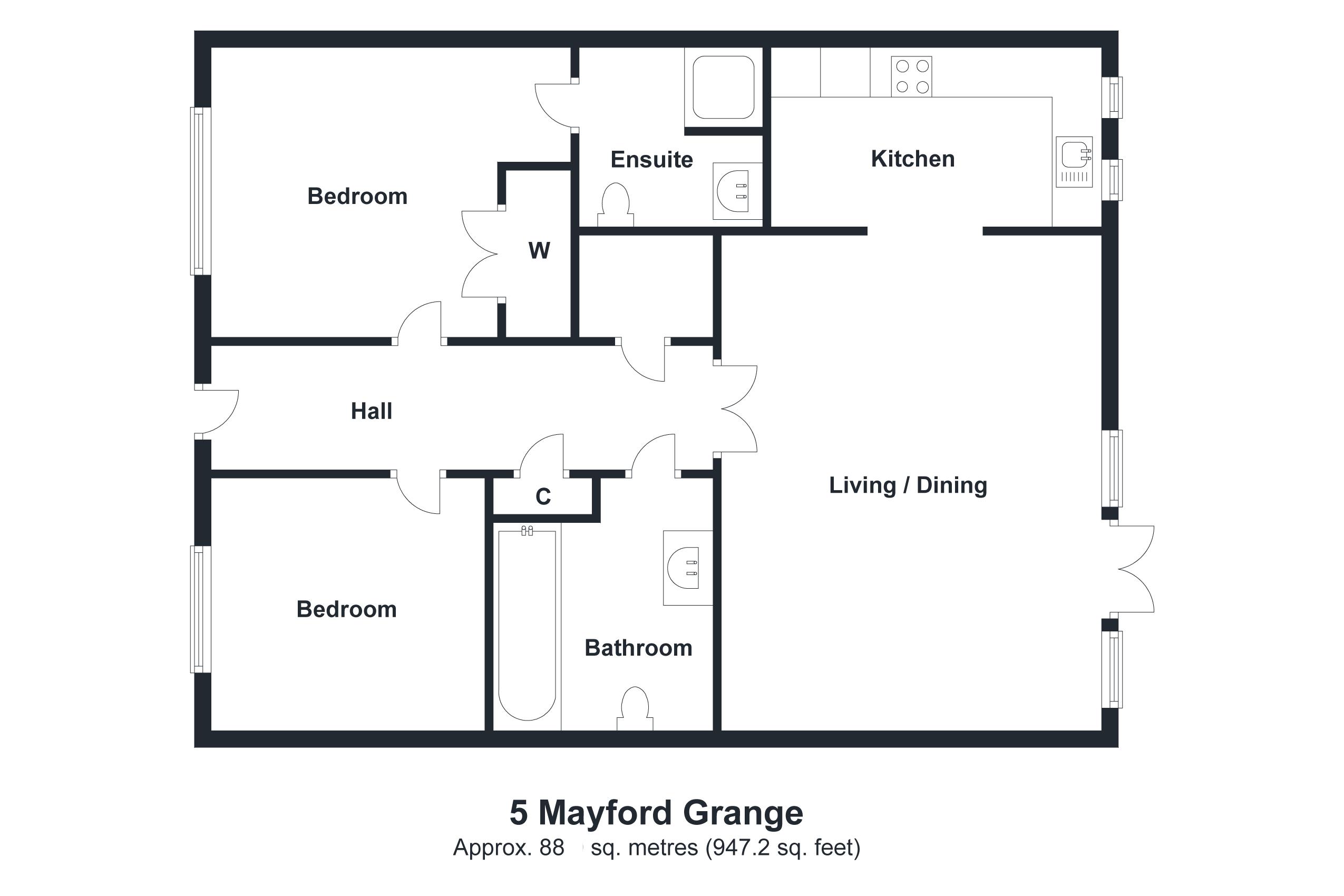 5 Mayford Grange Floorplan