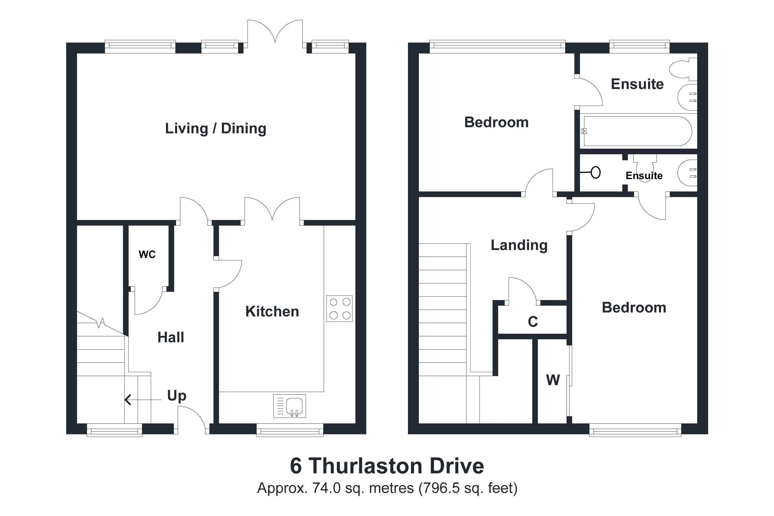 6 Thurlaston Drive Floorplan