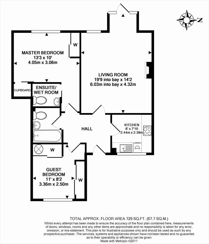 1 Deanery Walk Floorplan