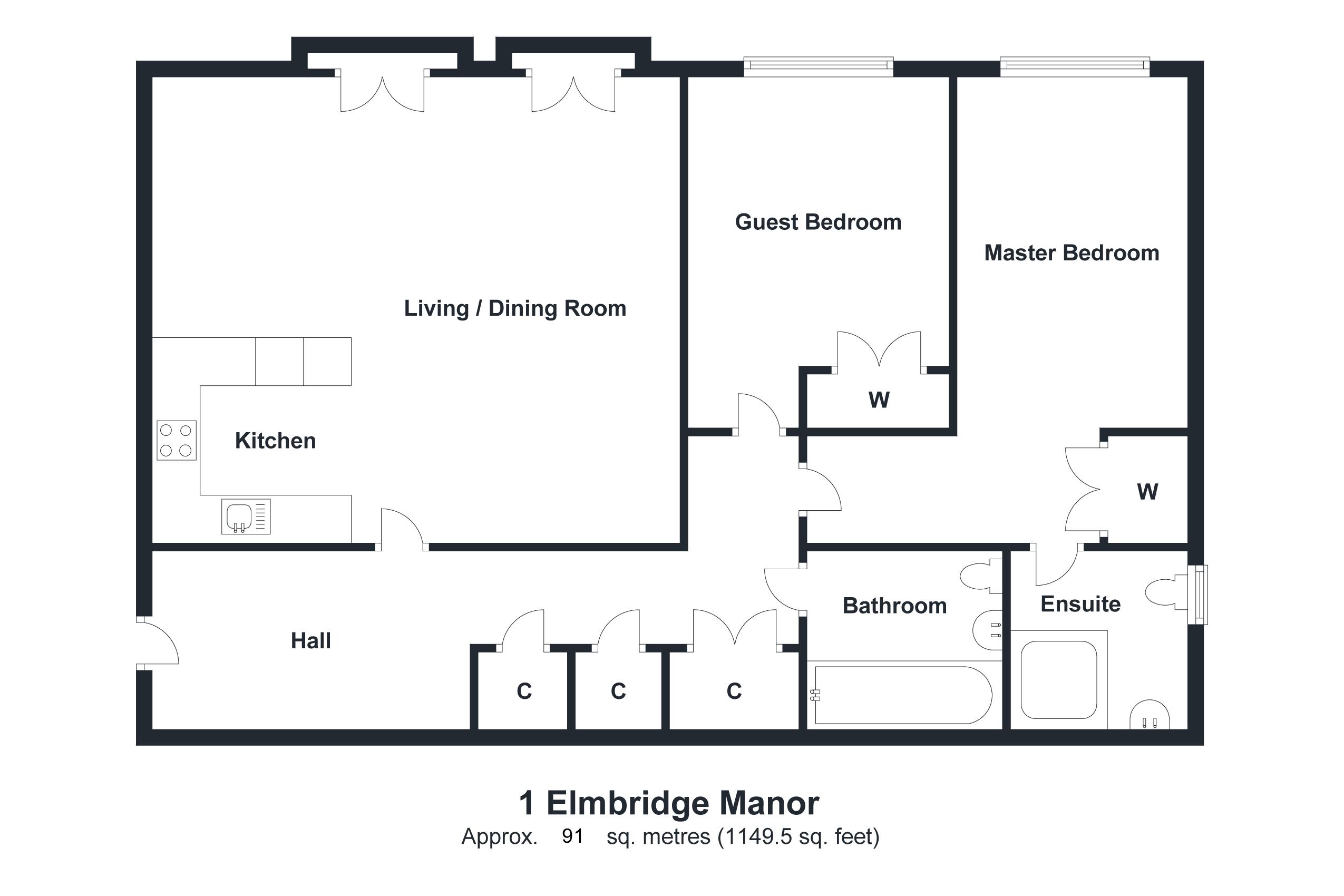 1 Elmbridge Manor Floorplan