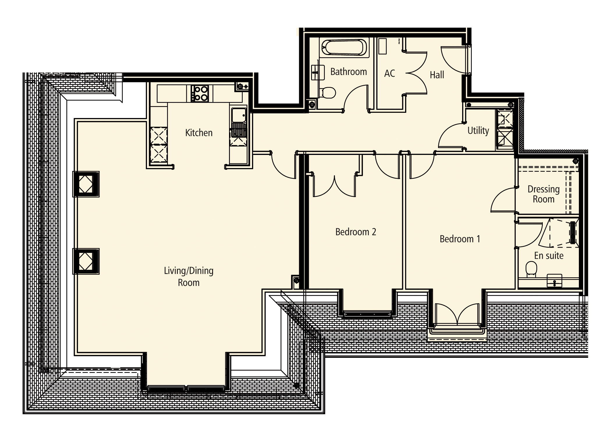 New Build, Apartment 17 Arun House Floorplan