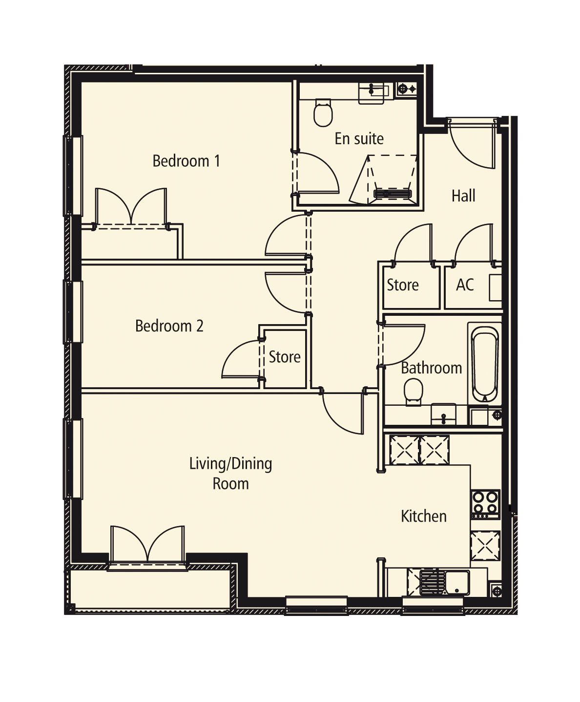 New Build, Apartment 10 Arun House Floorplan