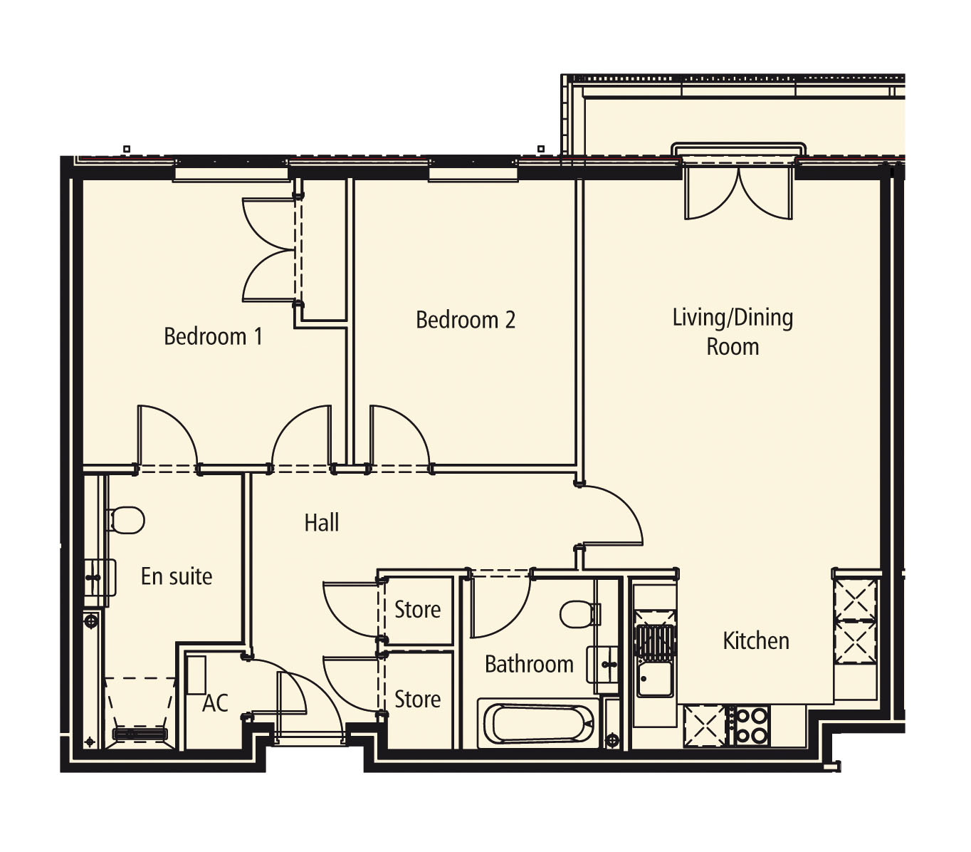 New Build, Apartment 12 Arun House Floorplan