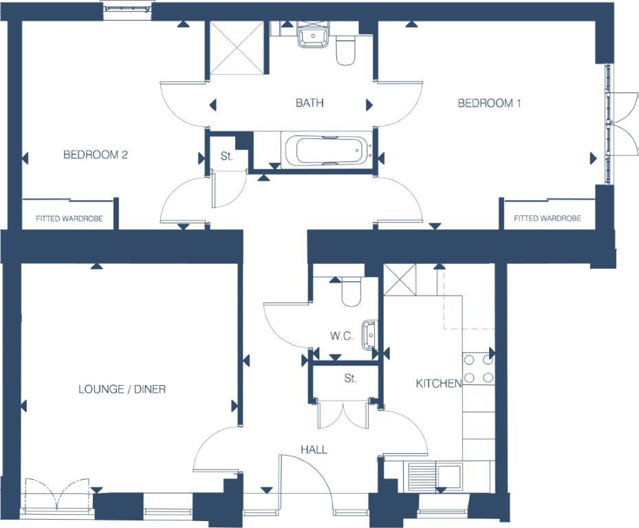 Stable Mews The Wisteria Floorplan