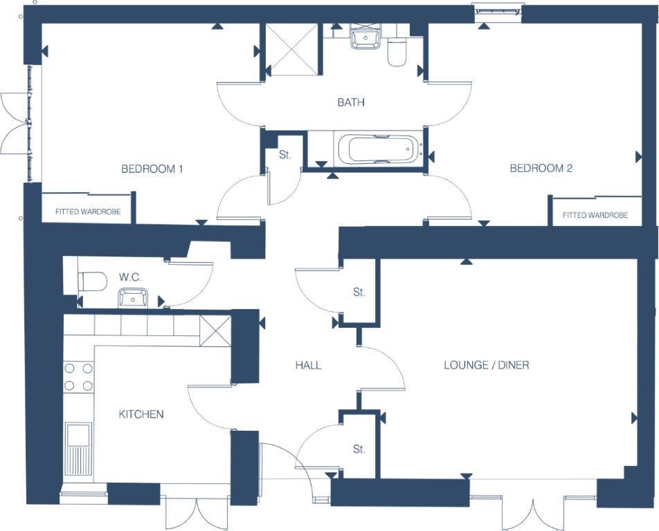 Stable Mews - The Rose Floorplan