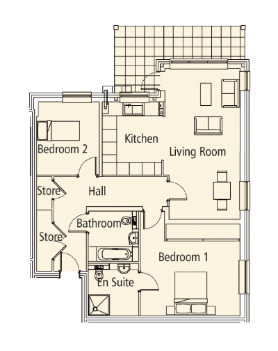 New Build, 3 Felcourt House Floorplan