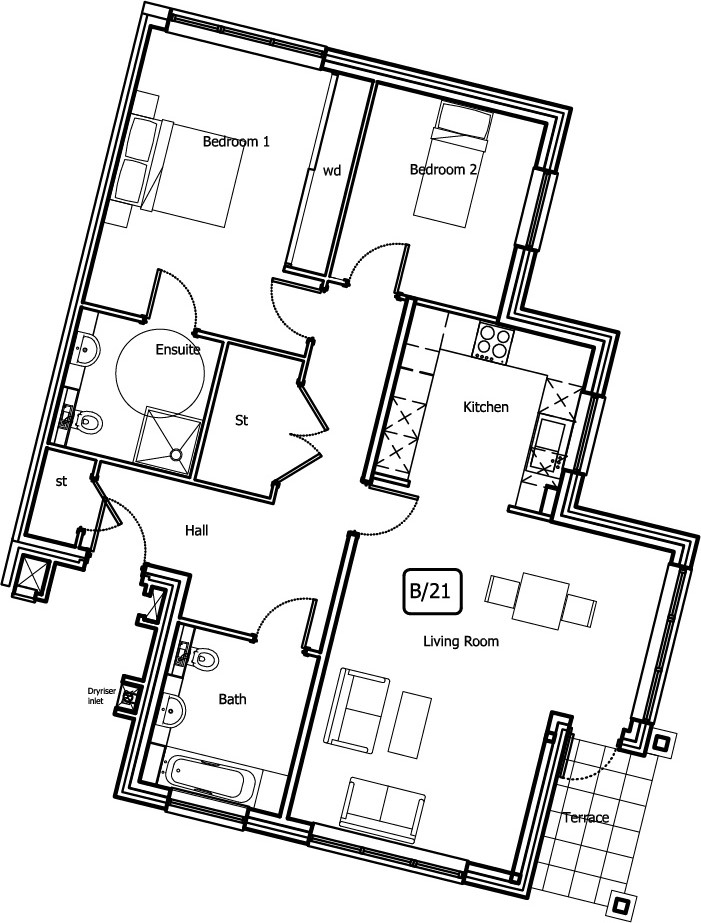 New Build, 6 Bush Davies Floorplan