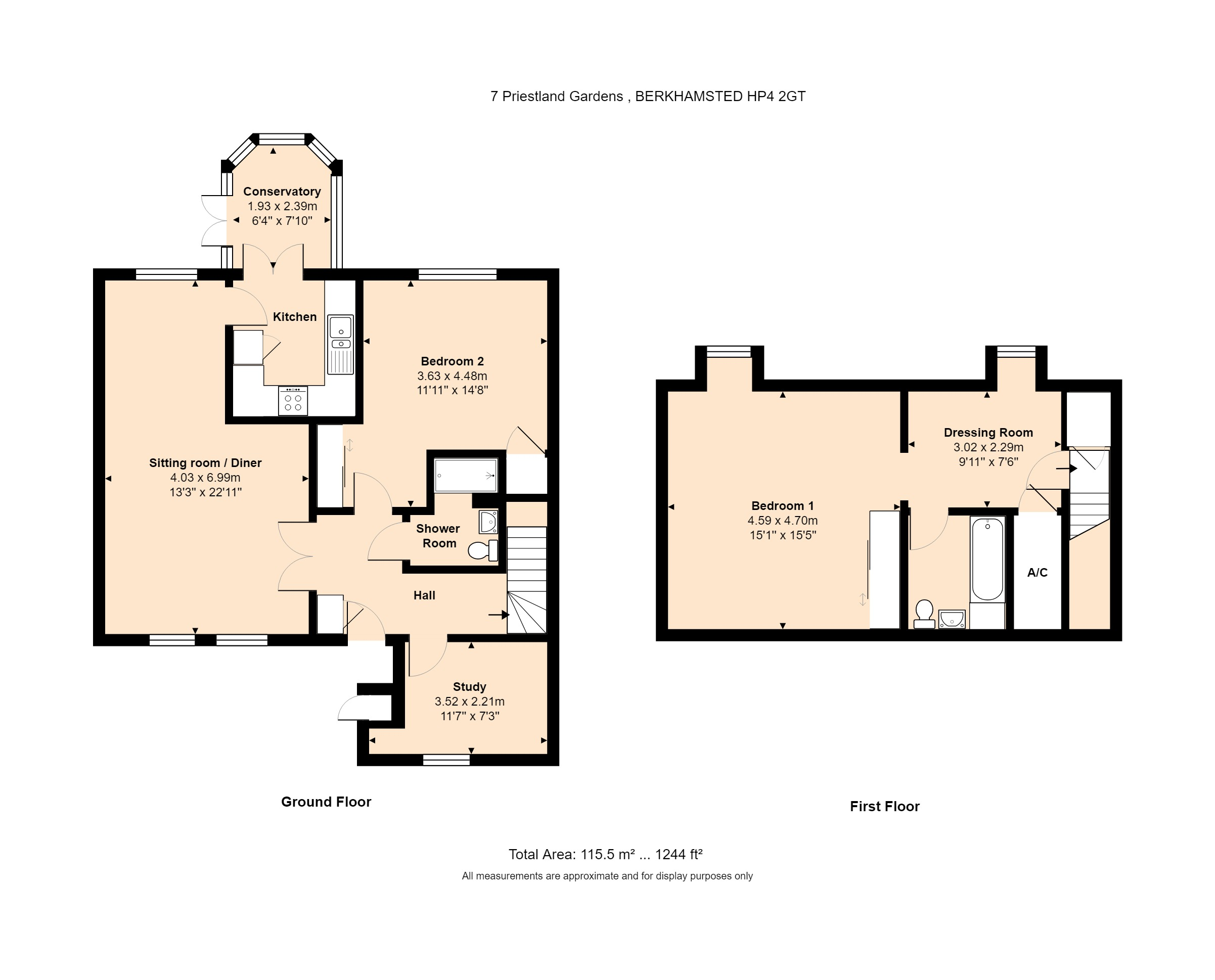 7 Priestland Gardens Floorplan