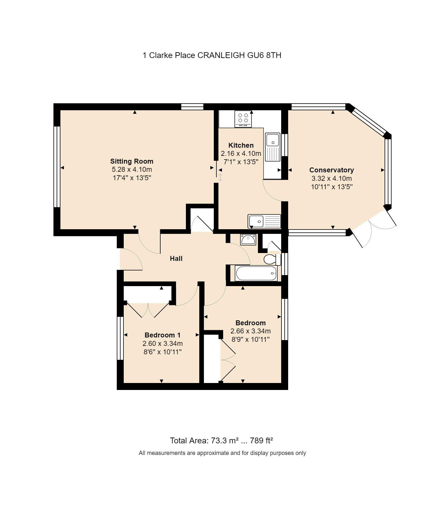 1 Clarke Place Floorplan