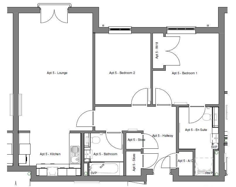 New Build, Apartment 5 Arun House Floorplan