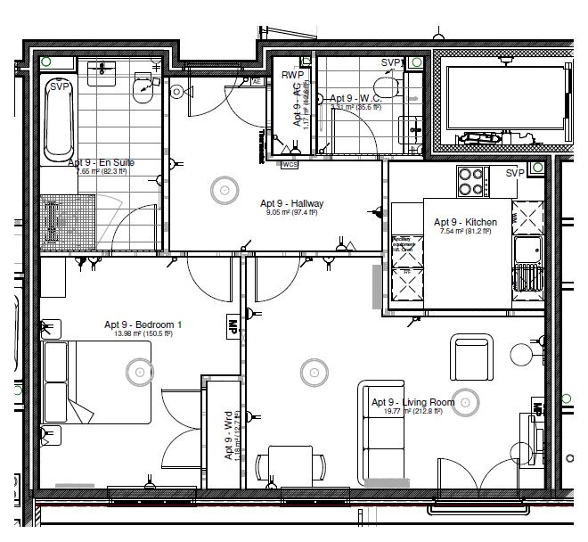 New Build, Apartment 9 Arun House Floorplan
