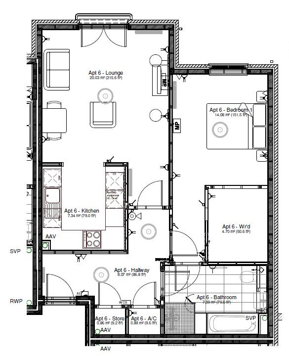 New Build, Apartment 6 Arun House Floorplan