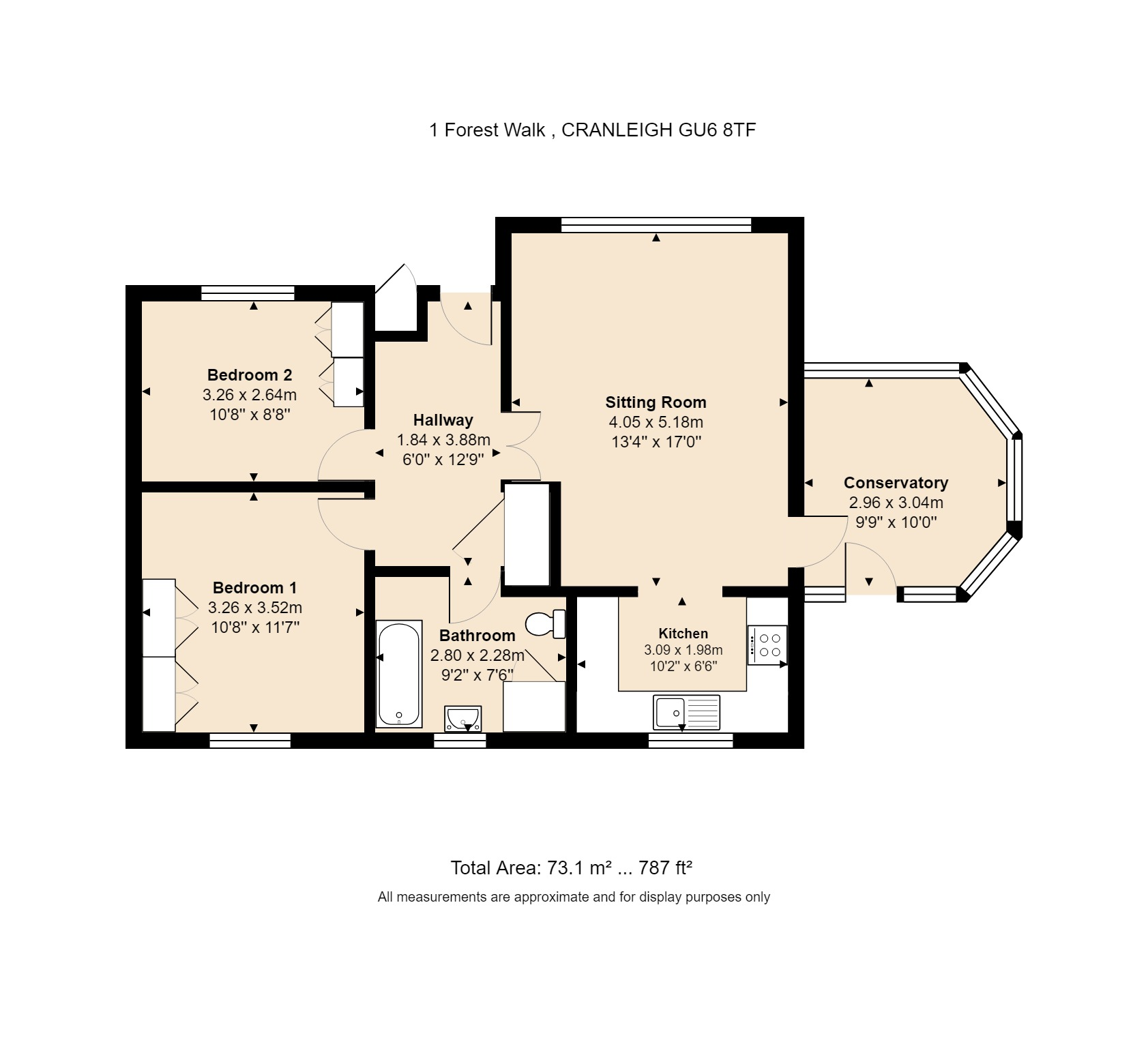 1 Forest Walk Floorplan