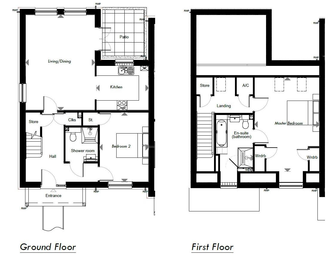 New Build, 7 Meadow View Floorplan
