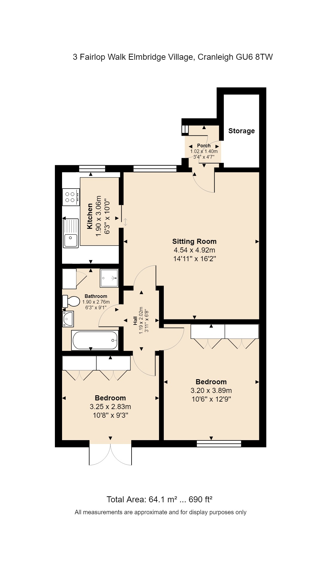 3 Fairlop Walk Floorplan