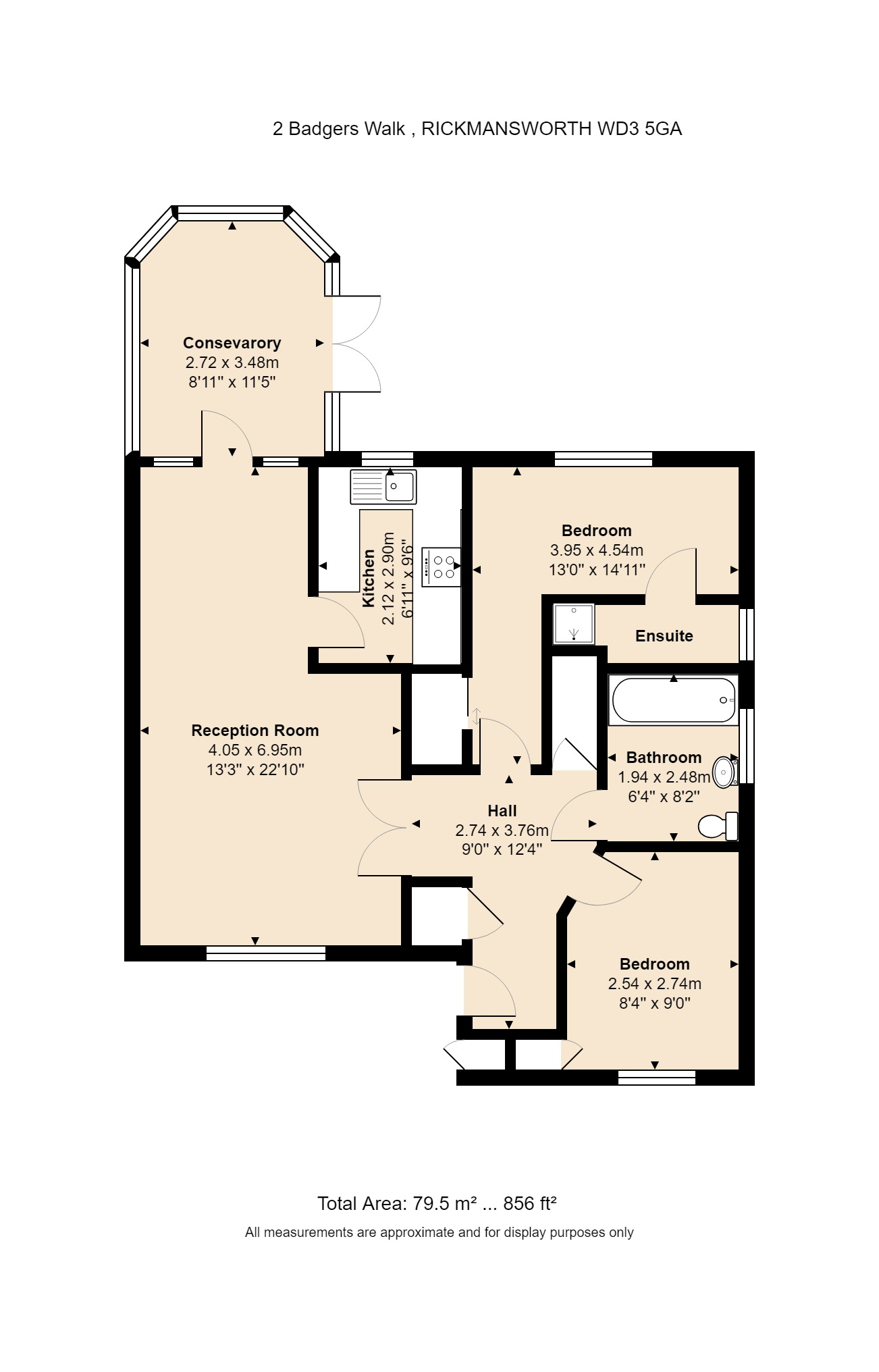 2 Badgers Walk Floorplan