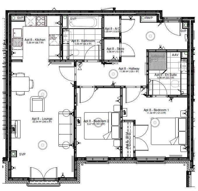 New Build, Apartment 8 Arun House Floorplan