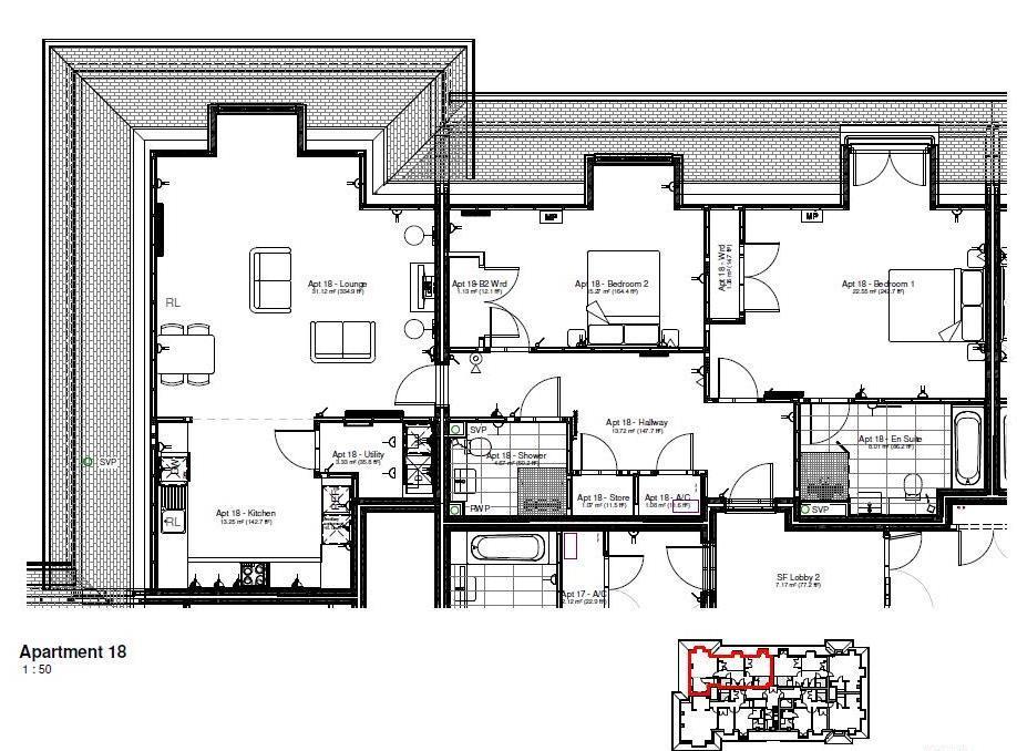 New Build, Apartment 18 Arun House Floorplan