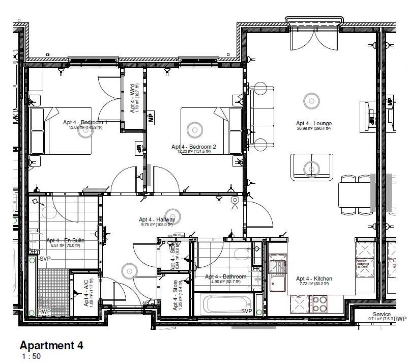 New Build, Apartment 4 Arun House Floorplan