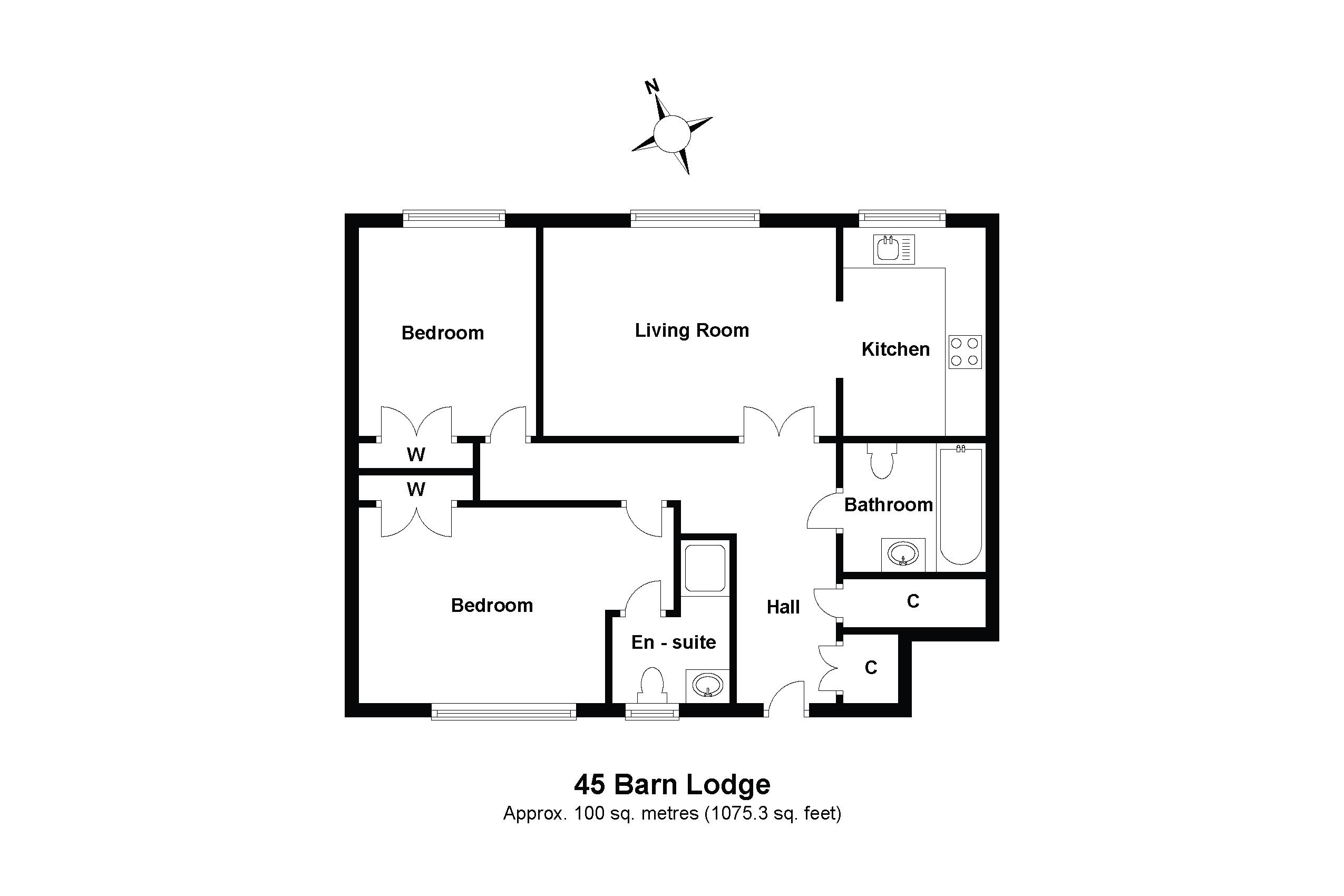 45 Barn Lodge Floorplan