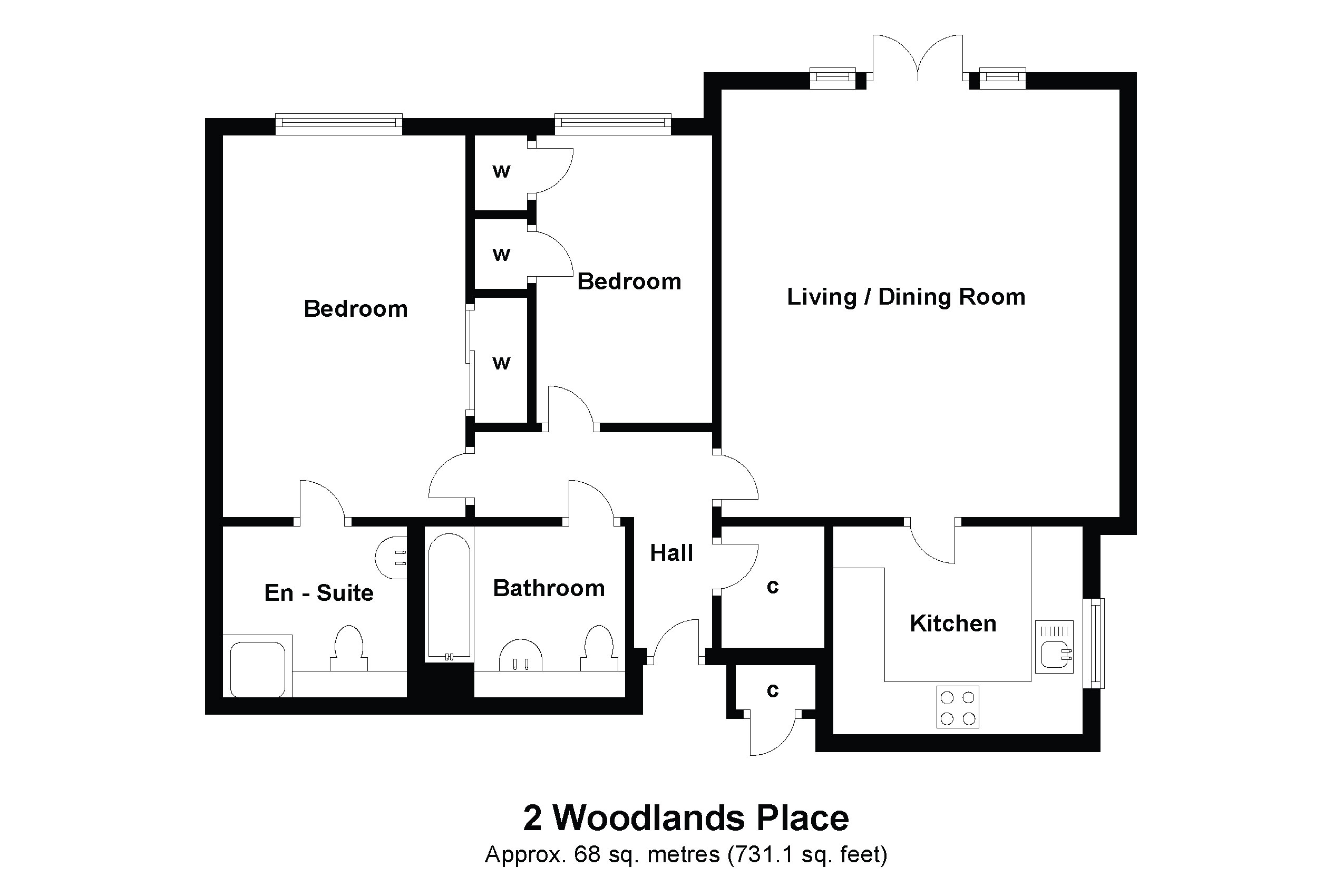 2 Woodland Place Floorplan