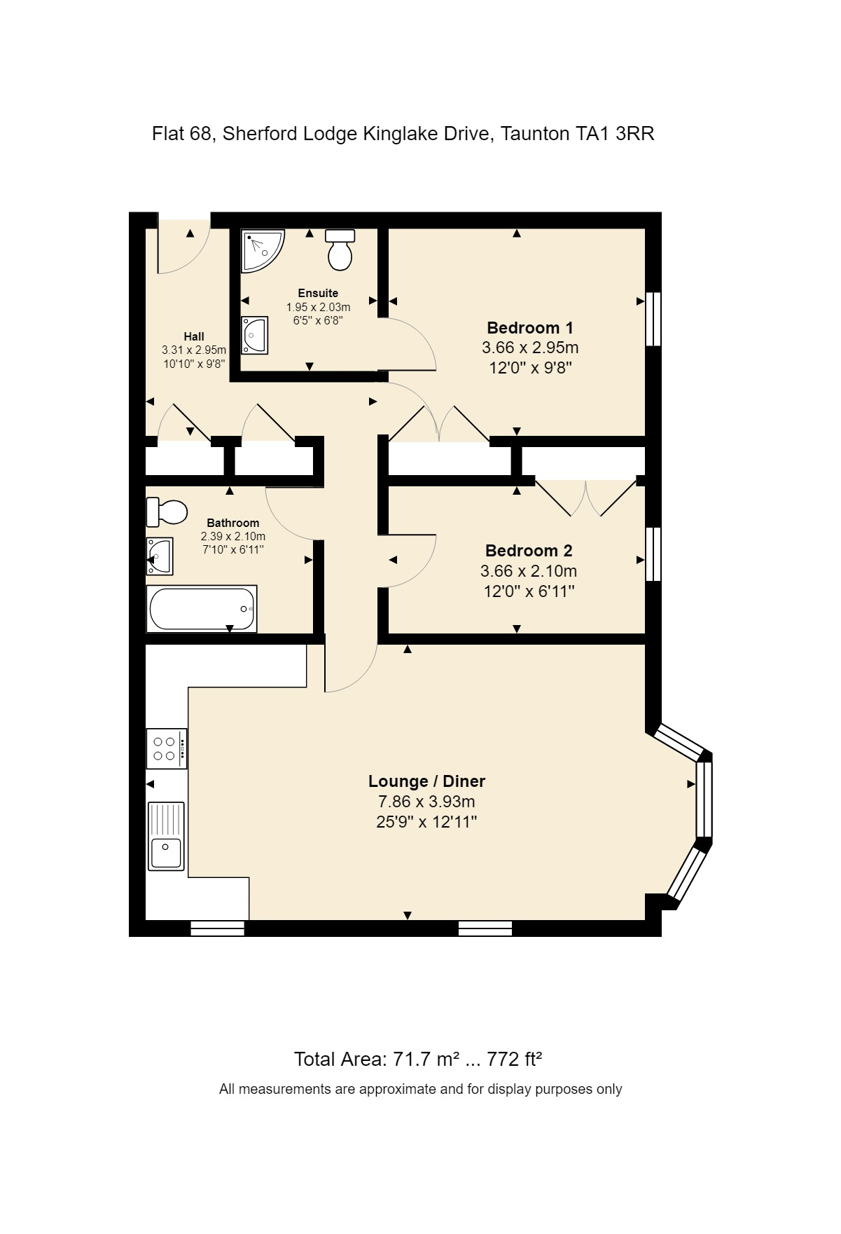 68 Sherford Lodge Floorplan