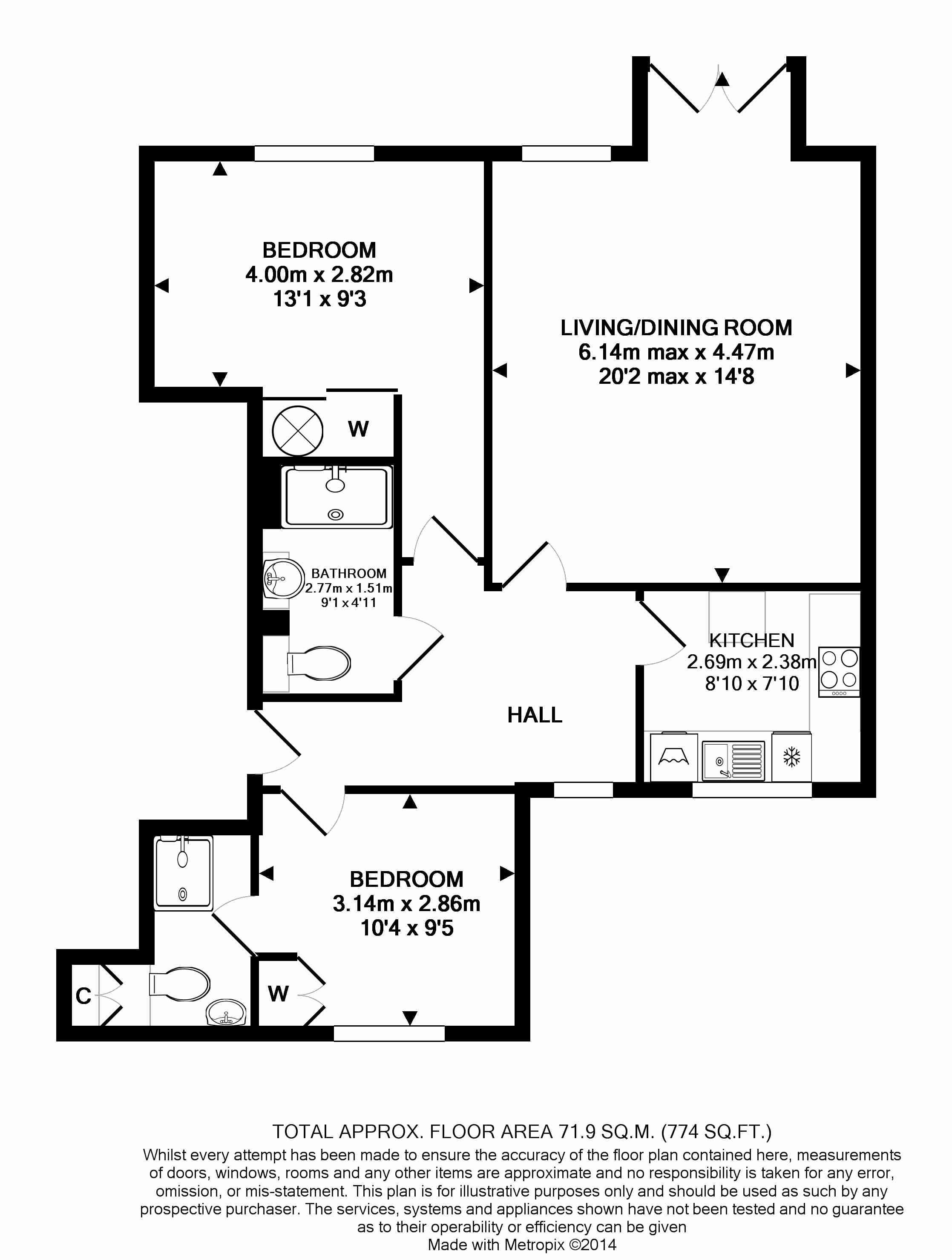 22 Deanery Walk Floorplan