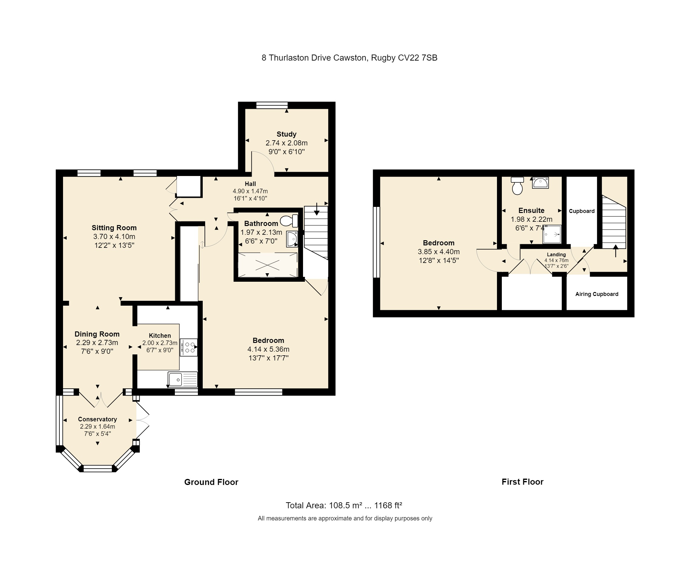 8 Thurlaston Drive Floorplan
