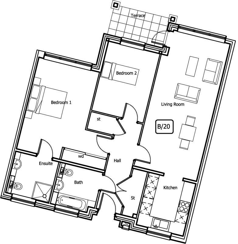 New Build 5 Bush Davies House Floorplan