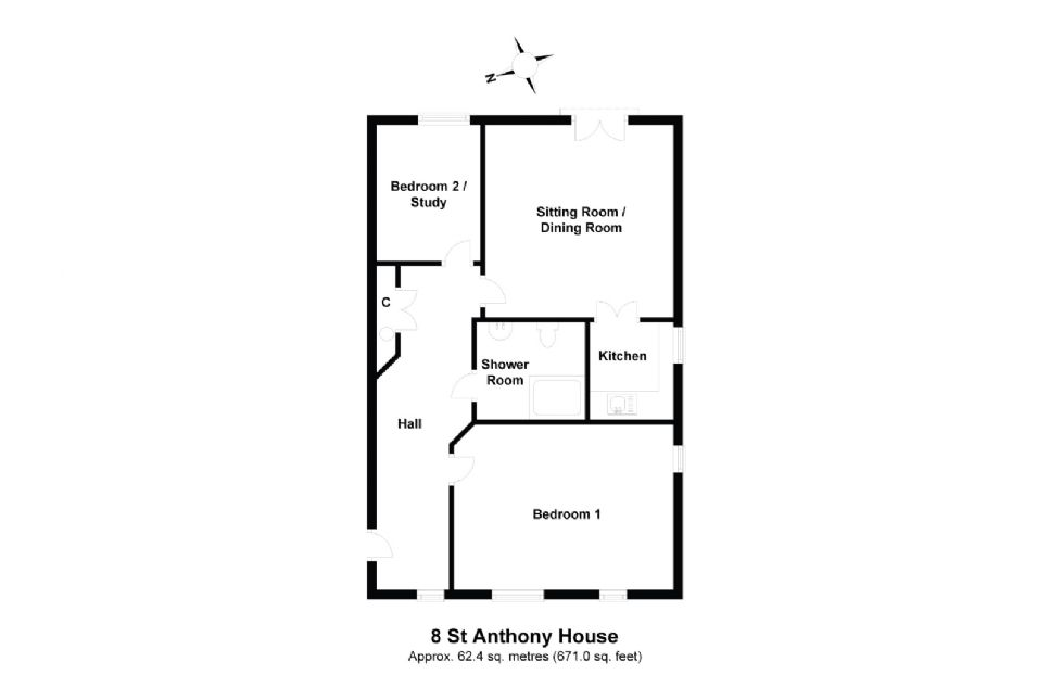8 St Anthony House Floorplan