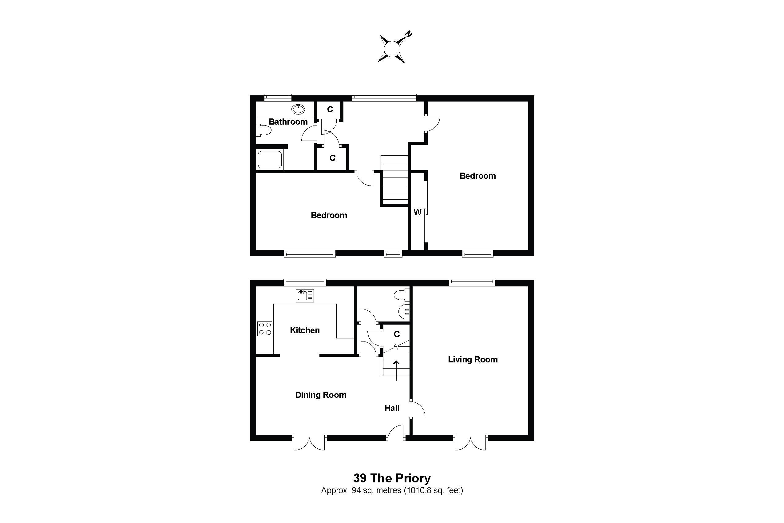 39 The Priory Floorplan