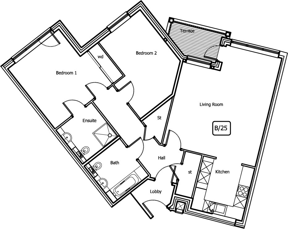 New Build, 10 Bush Davies House Floorplan