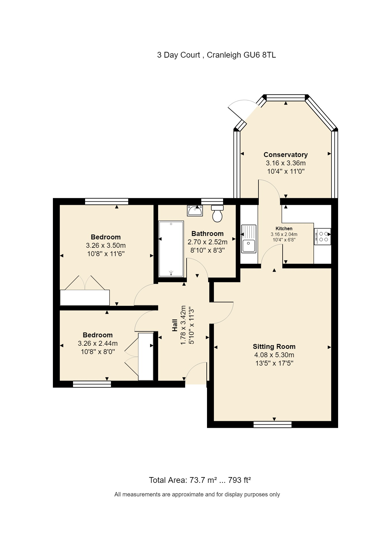 3 Day Court Floorplan
