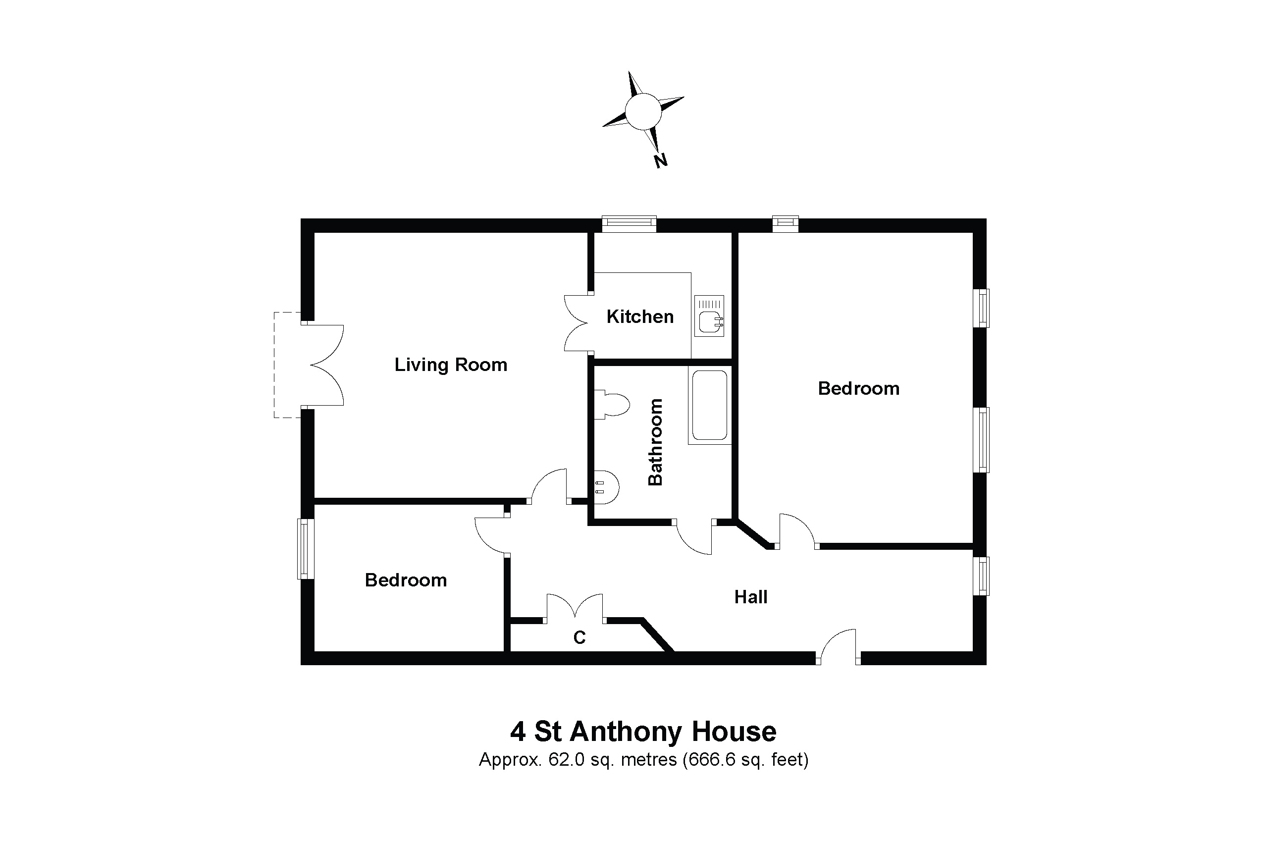 4 St Anthony House Floorplan