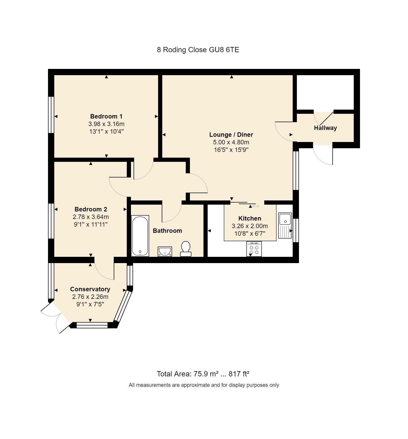 8 Roding Close Floorplan