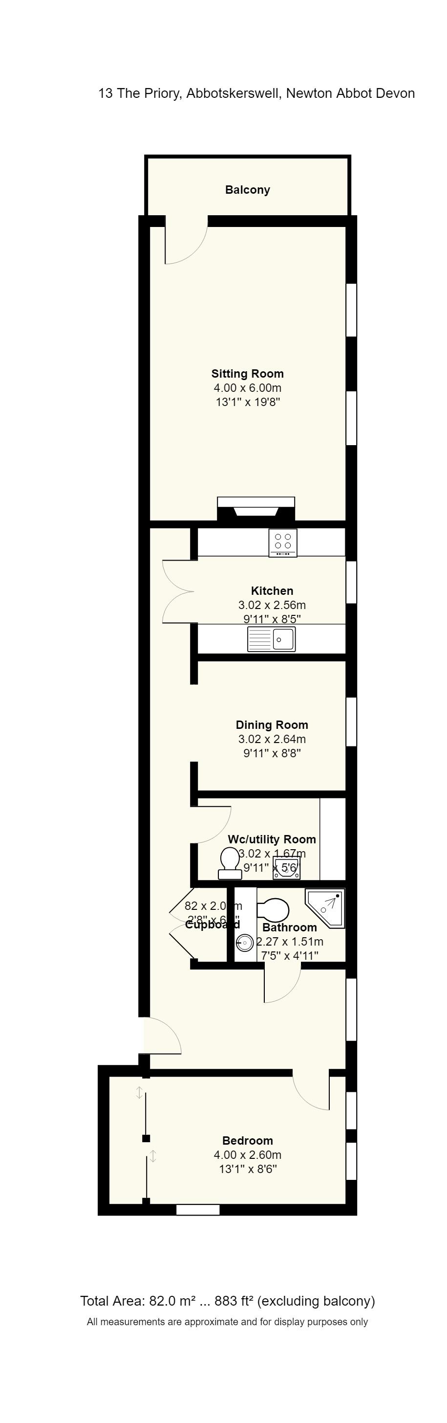 13 The Priory Floorplan