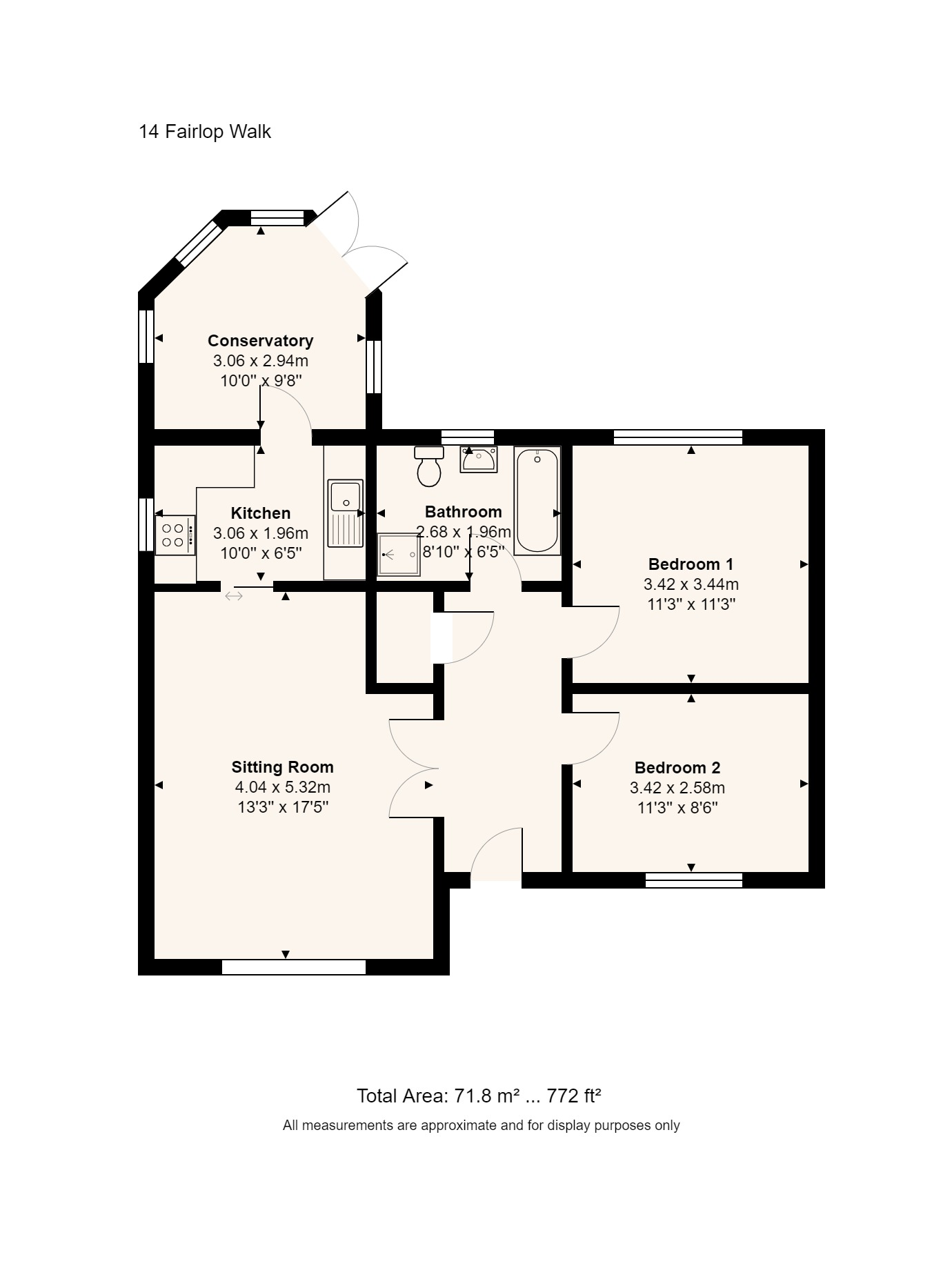 14 Fairlop Walk Floorplan